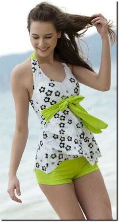 LOVE IT...its only $21.53 not to bad. Vintage Bow Knot Halter Tankini Set Swimsuit Bathing Suit Size:S-L   eBay