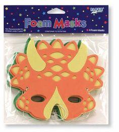 Diggin' for Dinos Party Favor Masks 4 Pack