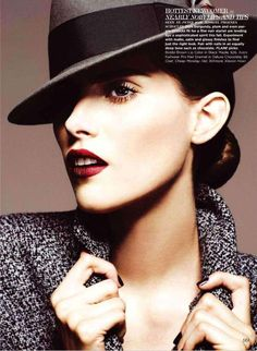 Stoic Androgynous Fashion : Max Abadian for Flare December 2011