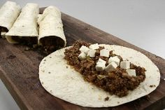 Buritos med hakket oksekød 4