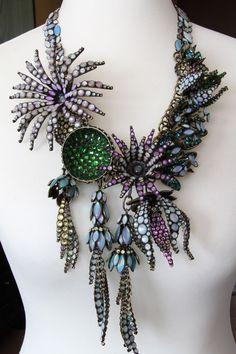 KONPLOTT Halskette Collier ALIEN ANEMONE blue/green