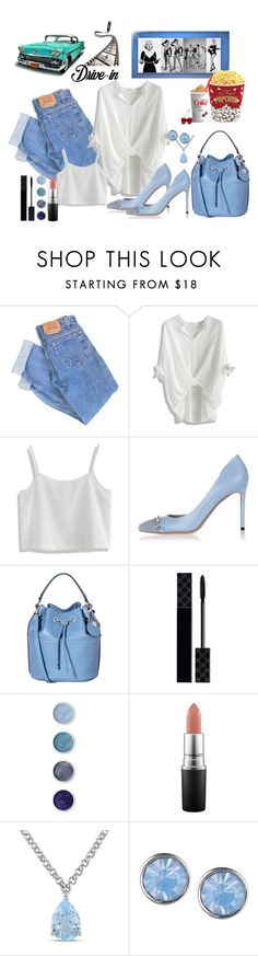 """""""Drive In"""" by marionmeyer ❤ liked on Polyvore featuring Levi's, Chicwish, Gucci, Nica, Terre Mère, MAC Cosmetics, Amour, Lonna & Lilly, West Bend and DateNight"""