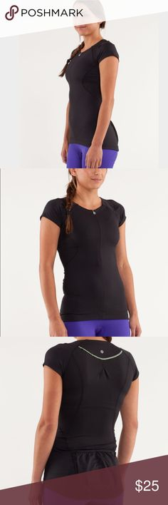 Lululemon Presta Top Here's an excellent condition lululemon presta jersey! Perfect for cycling or even just working out or hiking! Love the classic black with the fun ruffle trim on the back! Has pockets on the lower back for snacks! No holes, stains, or piling! Too cute! Size tag is still attached and is a size 10! lululemon athletica Tops