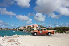 Driving to the #beach on Bonaire, Dutch #Caribbean