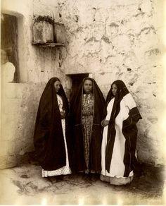 Bonfils. Palestine, Femmes de Nazareth    #Orient #Palestine_Palestina