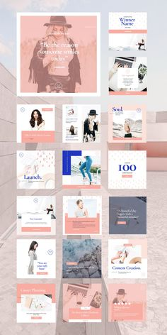 Are you launching your coaching business on Instagram? Want to revamp your Instagram posts to make your feed extra? Engage, inspire, and motivate your audience with the Coaching Social Feed Template, a captivating, focus-themed set of 30 cohesive designs. This fully customizable Canva Template saves time and will allow you to increase production of on-brand social content, maximize engagement, and leave a lasting impression. Motivate Yourself, Make It Yourself, Social Proof, Instagram Feed, Instagram Posts, Instagram Post Template, Promote Your Business, Business Branding, Online Business