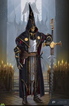 Inquisitor in Throne: Kingdom at War + Concept Dark Fantasy, Fantasy Concept Art, Fantasy Armor, Fantasy Character Design, Character Creation, Medieval Fantasy, Character Design Inspiration, Character Concept, Character Art