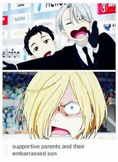 So true... Viktor and Yuuri have basically adopted Yurio and it's adorable ^_^