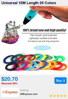 Universal 10M Length 20 Colors PLA/ABS 3D Printer Filament 1.75MM 3D Print Filament For 3D Printer 3D Printing Pen * Pub Date: 19:28 Jun 27 2017
