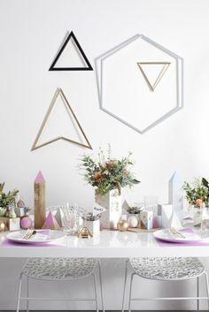 Geometric centerpieces & Wall decor