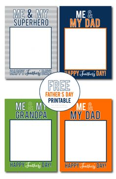 Free Me and My Dad Grandpa Father's Day printables
