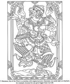 hanuman with many arms