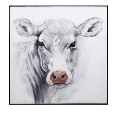 IMAX Rickey Cow Oil Painting