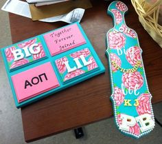 AOII crafts for my big! submitted by: nexttoimpossible big/little gifts!