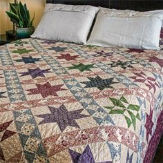 Road to Appomattox: Bed Size Civil War Quilt Pattern by Maria Tavy Umhey, in McCall's March/April 2015