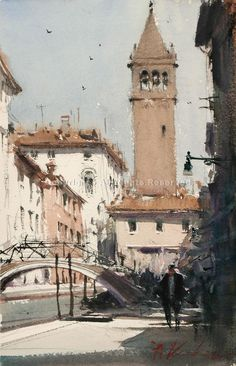 St. Barnaba, Venice - Watercolor by Joseph Zbukvic