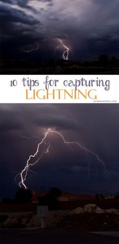 10 Tips for Capturing Lightning - If you need photography tips to capture all those spectacular thunderstorms this summer, these 10 Tips for Capturing Lightning will help you do that. on kleinworthco Lightning Photography, Dslr Photography Tips, Mixed Media Photography, Landscape Photography Tips, Photography Lessons, Photography For Beginners, Photoshop Photography, Night Photography, Photography Tutorials