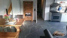 Alta Kwartsiet Flagstones binnenvloer keuken. Realisatie: Alex Koppelman