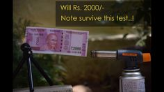 Rs. 2000 note testing in water and color loosing test