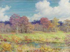 Charles Courtney Curran (1861–1942), Autumn Landscape - 1928