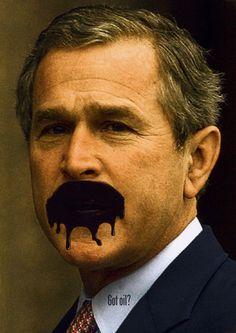 "George w richter   George W. Bush, ""Got oil?"", SIovenia 2004 Museum of Design Zurich ..."