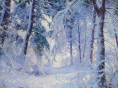 Winter Forest, huile sur toile de Walter Launt Palmer (1854-1932, United States)