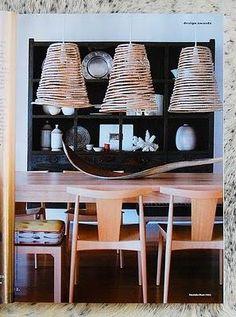 Lámparas de techo hechas con cuerda