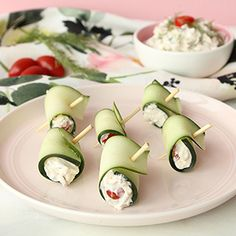 This is an appetizer recipe for delicious and easy to make Bacon & Dill Cucumber Roll Ups for kids and adults by Glitter and Bubbles.