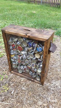 Caixa de Madeira personalizavel para caricas de cerveja