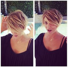 Kaley Cuoco-Sweeting - The Big Bang Theory - yes please. I think I want my hair like this.