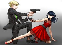 Spy Ladybug/Marinette and Cat Noir/Adrien from Miraculous Ladybug and Cat Noir Anime Miraculous Ladybug, Miraculous Ladybug Wallpaper, Miraculous Ladybug Fanfiction, Meraculous Ladybug, Ladybug Comics, Lady Bug, Cat Noir Cosplay, Les Miraculous, Marinette E Adrien