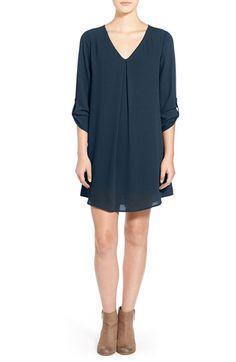 wear with fun leggings: Lush 'Karly' Shift Dress available at #Nordstrom