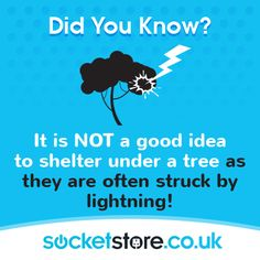 It is NOT a good idea to shelter under a tree as they are often struck by #lightning. #storm #weather #thunder