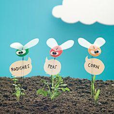 Beneficial Bugs -FamilyFun cute garden bugs to keep what you planted marked Garden Bugs, Garden Insects, Garden Care, Eco Garden, Garden Plants, Plant Markers, Garden Markers, Herb Markers, Bug Crafts