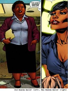 The Full-Figured Amanda Waller Now Skinny in DC Comics Relaunch
