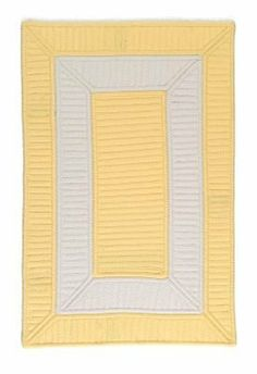 "Colonial Mills Collection 14 Cb90 3'6"" x 5'6"" Yellow / White Area Rug by Colonial Mills. $200.00. Collection 14 CB90 yellow / white rug by Colonial Mills Inc Rugs is a braided rug made from synthetic. It is a 3 x 5 area rug rectangular in shape. The manufacturer describes the rug as a yellow / white 3'6"" x 5'6"" area rug. Buy discount rugs with Buy Area Rugs .com SKU cb90r042x066s