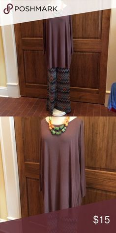 PIKO tunic top or dress Pair this super soft and comfy long sleeve tunic with these cute chevron palazzo pants and Anthro necklace for a super cute outfit! PIKO Tops Tees - Long Sleeve