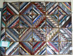 Quilt made from old mens ties Great way to repurpose old ties into something sentimental.   Maybe make a pillow too !   Love this idea with Dad's, Grandpa's or Great Grandpa's  ties !!,.