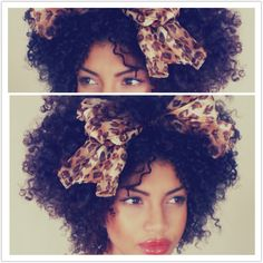 Forget the accessory, I love the shape of her hair! To learn how to grow your hair longer click here - http://blackhair.cc/1jSY2ux