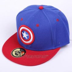 best website 85c5c 03085 The Avengers Captain America Logo Streetwear Blue Snapback. Marvel HatsStylish  CapsCaptain ...