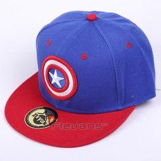 a8926e01eb8c0 The Avengers Captain America Logo Streetwear Blue Snapback