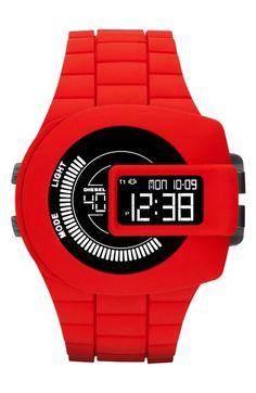 DIESEL® 'Viewfinder' Digital Watch, 43mm x 52mm