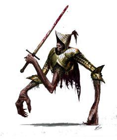Armored three legged horror