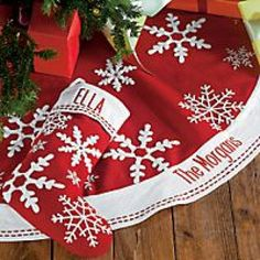 Want to find DiY Personalized Christmas Tree Skirt and matching personalized stocking