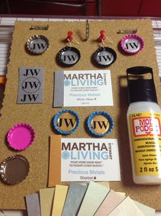 Bottle Caps, paint samples(of your choice), printer, Mod Podge Dimensional(be careful, some have glitter and won't dry clear as these), pins, earrings, lanyards, string necklaces and lots of other good ideas from these simple ingredients! Have fun at your Convention! These will be going to Atlanta, Georgia International #2! Jw Gifts, Easy Gifts, Caleb Et Sophia, Cute Crafts, Crafts For Kids, Jw Convention, Pioneer School, Pioneer Gifts, Bible School Crafts