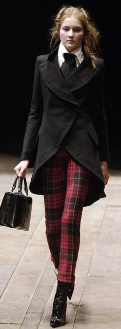 Tartan ensemble by Alexander McQueen using the MacQueen tartan
