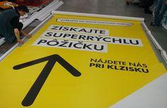 Tlačíme plachty vo veľkom #tlač #banner #plachta #baner #reklama Creative Advertising, Banner, Company Logo, Logos, Banner Stands, Logo, Banners