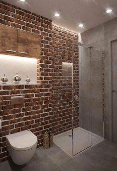 Search this significant photo in order to take a look at the here and now information and facts on Small Bathroom Renovation Ideas Brick Bathroom, Bathroom Red, Beach Bathrooms, Boho Bathroom, Rustic Bathrooms, Bathroom Wall Decor, Bathroom Interior Design, Modern Bathroom, Master Bathroom