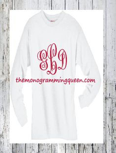 Large Monogram Tee Mobile Shop, Valentines Day, Monogram, Graphic Sweatshirt, My Love, Trending Outfits, Tees, Awesome, Handmade Gifts