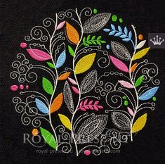 Embroidery Designs Handcrafted In Guatemala long Embroidery En Miami Beach my Embroidery Stitches Types Of Embroidery, Japanese Embroidery, Free Machine Embroidery Designs, Crewel Embroidery, Embroidery Files, Indian Embroidery, Embroidery For Beginners, Autumn Leaves, Etsy